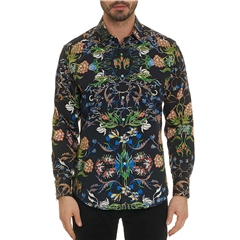 Robert Graham Shirt Warner - Black - Size 4XL Only