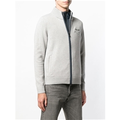 Hackett of London Aston Martin Racing Double-Front Cardigan - Anthracite - 3XL Only