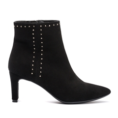 Unisa Pointed Toe Studded Boot - Black