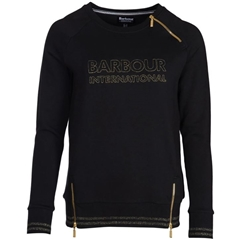 Autumn 2018 Barbour International Women's Geneva Sweatshirt - Black