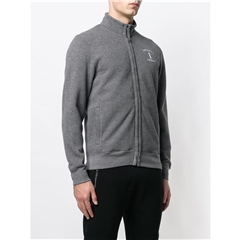Autumn 2018 Hackett of London 'Mr Classic' Zip-front Sweater - Charcoal