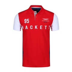 Autumn 2018 Hackett of London Aston Martin Racing Polo-Shirt - Red/Navy
