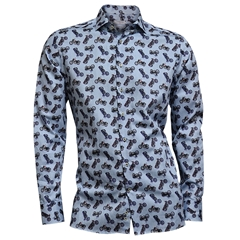 Autumn 2018 Giordano Motorbike Shirt - Blue
