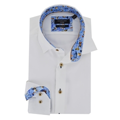 Autumn 2018 Giordano Shirt - White with Contrast Trim