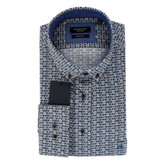 Autumn 2018 Giordano Neat Circles Shirt - Regular Fit