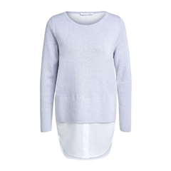 Oui Jumper with blouse hem - Grey