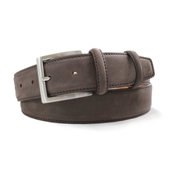 Brown Suede Nubuck Belt by Robert Charles