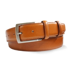 Mens Tan Smooth Leather Belt by Robert Charles
