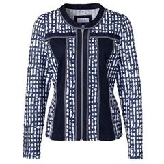 Just White Jacket - Navy/White