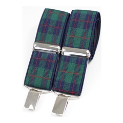 Standard Patterned Braces - Black Watch Tartan