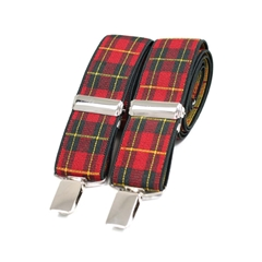 Standard Patterned Braces - Royal Stewart Tartan