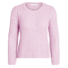 Oui Ribbon Yarn Coarse Knit Jumper - Pink