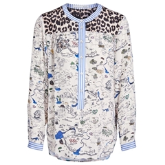 Oui Resort Patterned Blouse