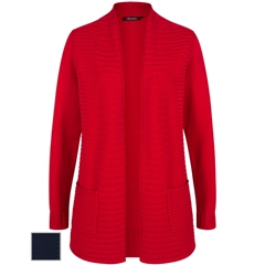 Olsen Edge to Edge Ribbed Cardigan - Red