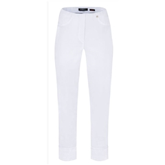 Robell Trousers - Bella Ankle-Length Trouser - White