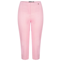 Robell Trousers - Marie Cropped Trouser - Soft Rose