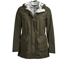 Spring 2019 Barbour Women's Waterproof Jacket - Aire - Olive