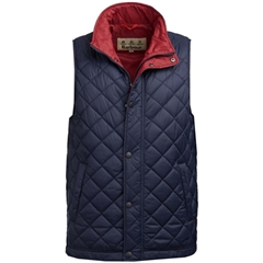 New 2019 Barbour Men's Quilted Gilet - Ampleforth - Navy