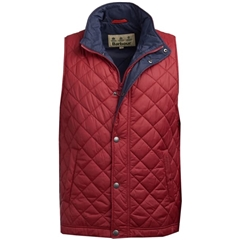 New 2019 Barbour Men's Quilted Gilet - Ampleforth - Biking Red