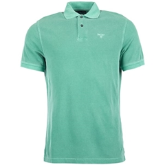 New 2019 Barbour Men's Washed Sports Polo-Shirt - Turf Green