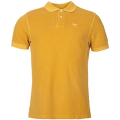 New 2019 Barbour Men's Washed Sports Polo-Shirt - Mustard