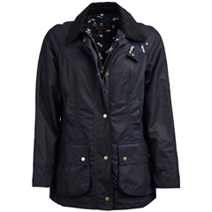 New 2019 Barbour Women's Waxed Cotton Jacket - Monteviot - Navy