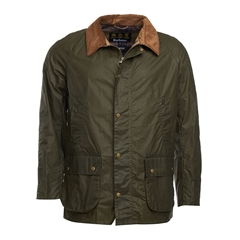 New 2019 Barbour Men's Lightweight 4oz Waxed Cotton Jacket - Ashby - Olive