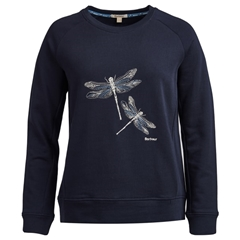 New 2019 Barbour Women's Sweatshirt - Quarry - Navy