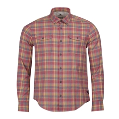 Spring 2019 Barbour International Men's Steve McQueen Seven Check Shirt - Washed Red