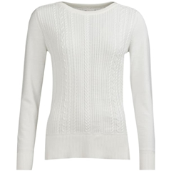 New 2019 Barbour Women's Knit - Hampton - Off-White