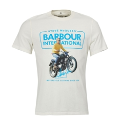 New 2019 Barbour International Men's Steve McQueen T-Shirt - Cooler - Whisper White
