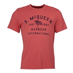 Spring 2019 Barbour International Men's Steve McQueen T-Shirt - Boon - Washed Red
