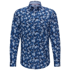 Fynch Hatton Shirt - Blue Flowers