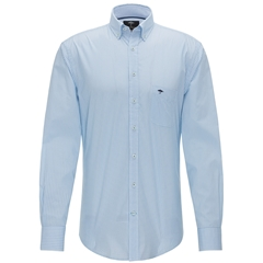 Fynch Hatton Shirt - Blue and Jade Diamonds