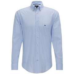 Fynch Hatton Shirt - Blue and Navy Diamonds