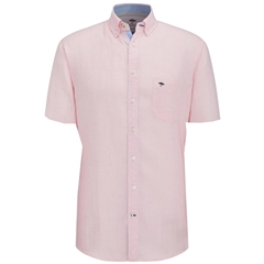 Fynch Hatton Linen Shirt - Pink Half Sleeve