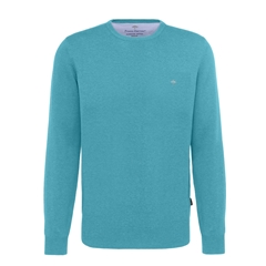 Spring 2019 Fynch Hatton Superfine Cotton Crew Neck Sweater - Turquoise