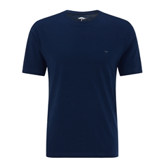 Fynch Hatton Cotton T-Shirt - Midnight Blue