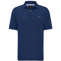 Fynch Hatton Cotton Polo Shirt - Midnight Blue