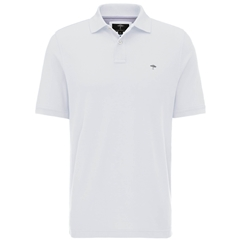 Fynch Hatton Cotton Polo Shirt - White