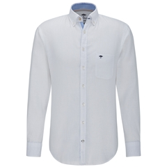 Fynch Hatton Linen Shirt - White
