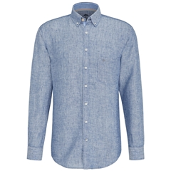 Fynch Hatton Linen Shirt - Navy