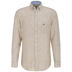Fynch Hatton Linen Shirt - Taupe