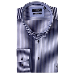 New 2019 Giordano Shirt - Navy Candy Stripe