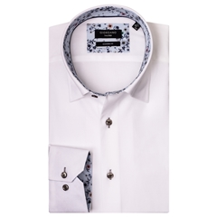 Giordano Shirt - White Pinpoint Oxford
