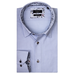 Giordano Shirt - Blue Pinpoint Oxford