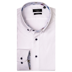 New 2019 Giordano Shirt - Textured White