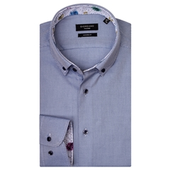 Giordano Shirt - Textured Blue