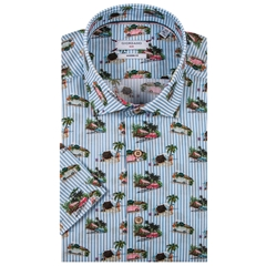 Giordano Short Sleeve Shirt - VW Beetle Print - Large Only