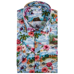New 2019 Giordano Short Sleeve Shirt - Hawiian Print